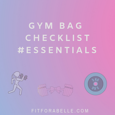 Gym bag essentials checklist pdf download | what to pack in my gym bag