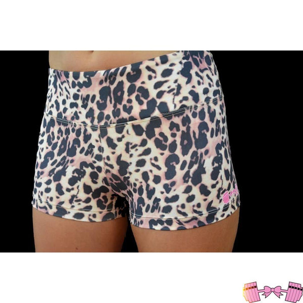 FFAB Leopard Spandex Shorts - Fit For A Belle