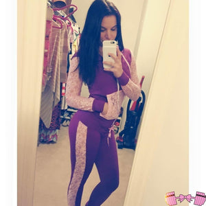 Barbelle Doll Lace Tracksuit Bottoms - Fit For A Belle