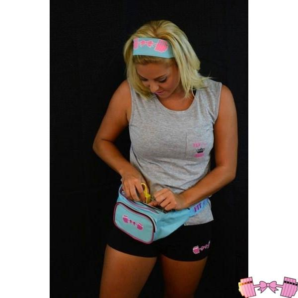 Girly Barbell Bow Fannypack Accessories- FitForABelle.com