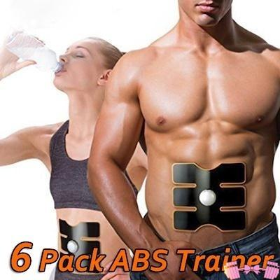 Pink EMS Abdominal Muscle 6 Pack/Oblique Trainer Accessories- FitForABelle.com