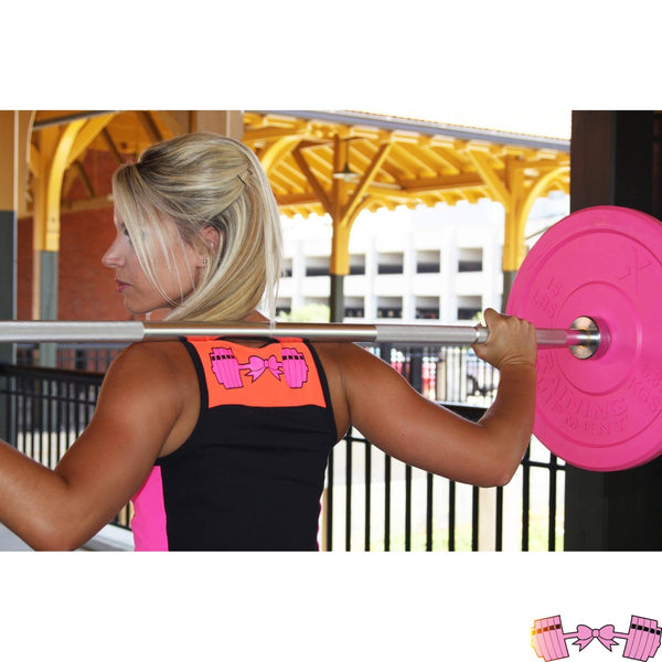 FFAB Bow and Barbell Logo Athletic Crop Tops- FitForABelle.com