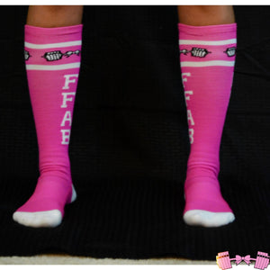FFAB Pink Tall Socks - Fit For A Belle