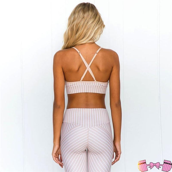 2019 NEW Striped Adorable Affordable Sportswear Luxury Set activewear- FitForABelle.com