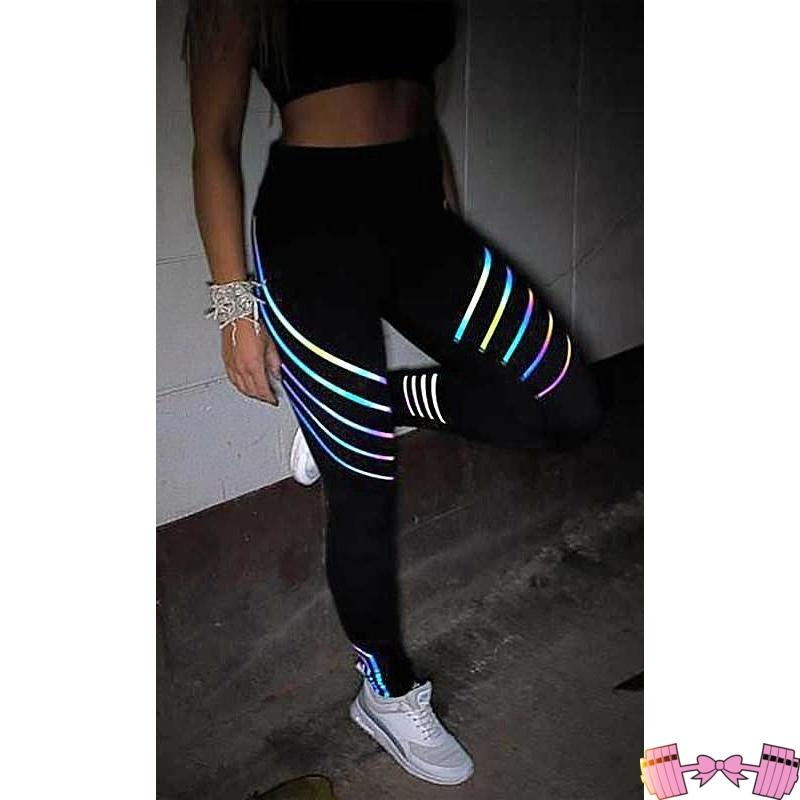 bf568e8646f01 ... Glowing Reflective Rainbow Yoga Workout Leggings Bottoms-  FitForABelle.com ...