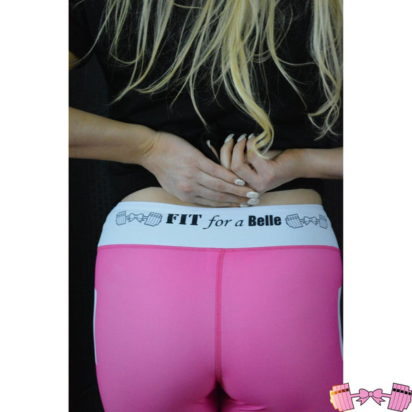 Fit For A Belle PINK Leggings - Fit For A Belle