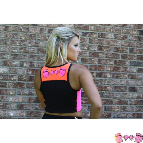 FFAB Bow and Barbell Logo Athletic Crop - Fit For A Belle