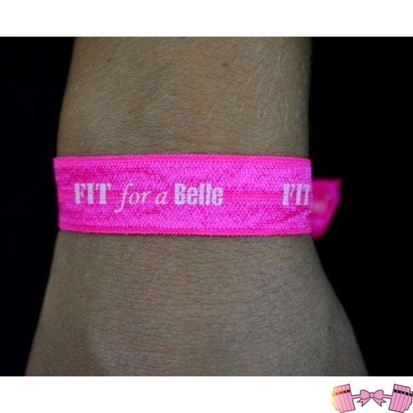 FFAB Pink Hair Tie Accessories- FitForABelle.com