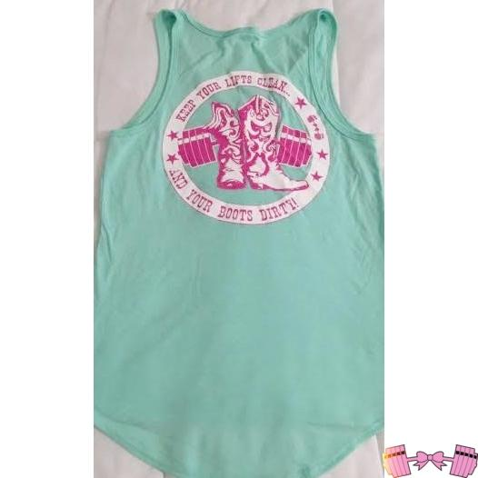 Keep Your Lifts Clean and Boots Dirty Tank Shirts- FitForABelle.com