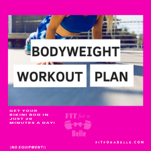 Easy Workouts To Do At Home For Beginners To Lose Weight | Bodyweight Workout NO EQUIPMENT Accessories- FitForABelle.com