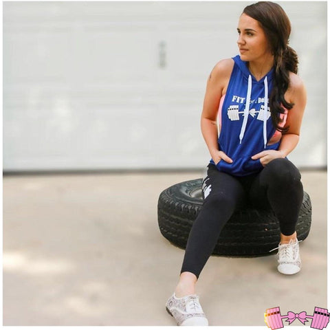 FFAB Blue Sleeveless Hoodie - Fit For A Belle