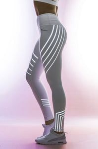 Glowing Reflective Rainbow Yoga Workout Leggings Bottoms- FitForABelle.com