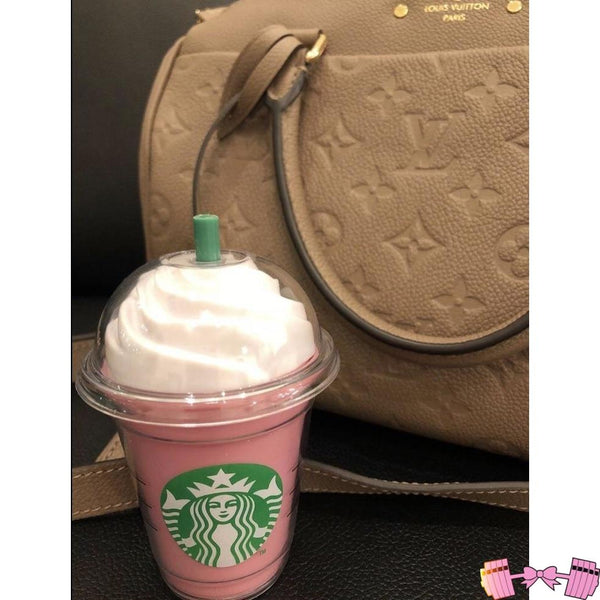 Starbucks Frappachino iPhone Pink Power Bank Charger Accessories- FitForABelle.com