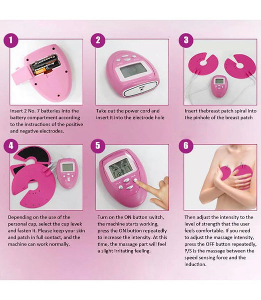 Pink Electronic Machine Muscle Stimulation For Bigger Breast