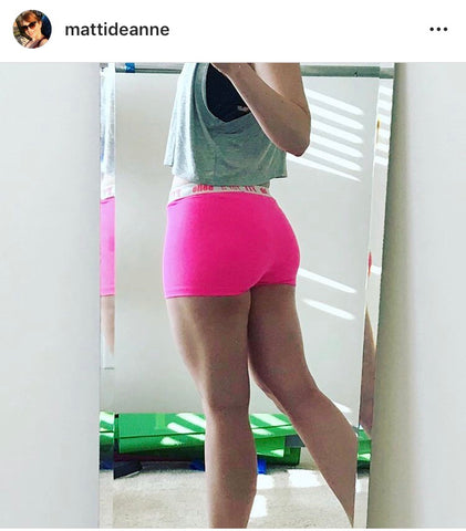Neon Pink Spandex Workout Shorts | Activewear Bottoms- FitForABelle.com