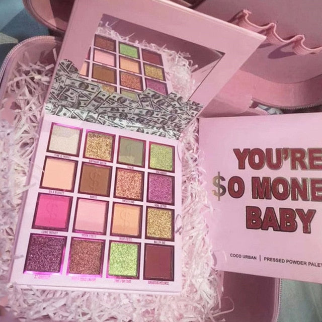 You're So Money Baby Pressed Powder Palette Matte Glitter Eyeshadow Pallete Siny Eye shadow Palette Nude Color Eye Pigment