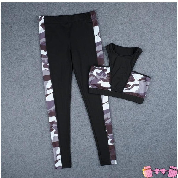 Two Piece Set Camouflage Tracksuit apparel- FitForABelle.com