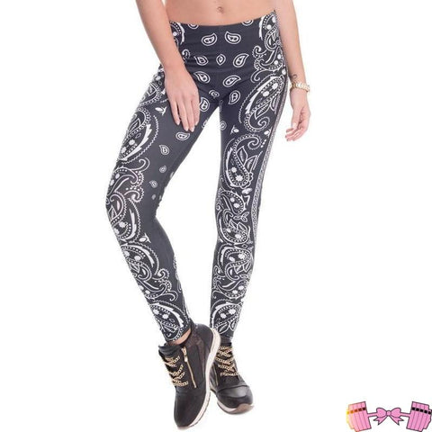FFAB Barbelle Bandana Workout Leggings - Fit For A Belle