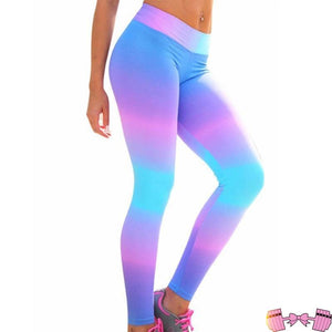 Gradient Workout Fashion Spandex Leggings Bottoms- FitForABelle.com