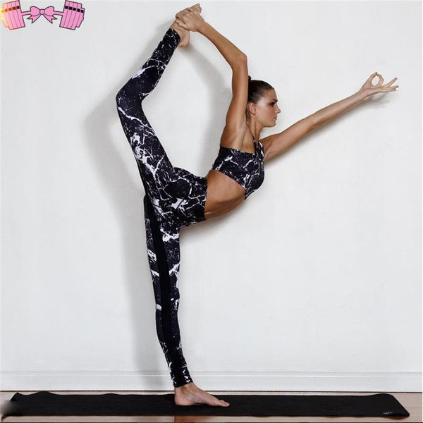 Marble Workout Set Bottoms- FitForABelle.com