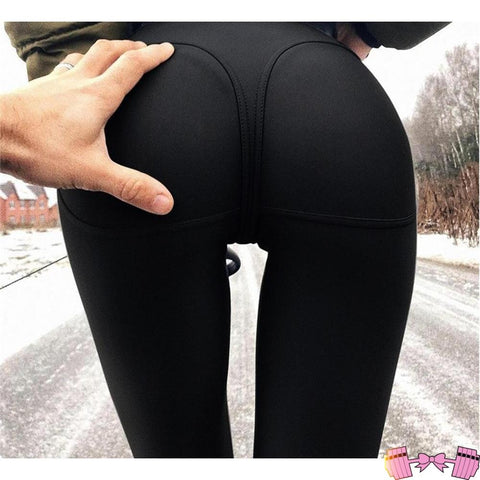 High Waist Fitness Booty Push Up Tights - Fit For A Belle