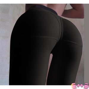 High Waist Fitness Booty Push Up Tights bottoms- FitForABelle.com