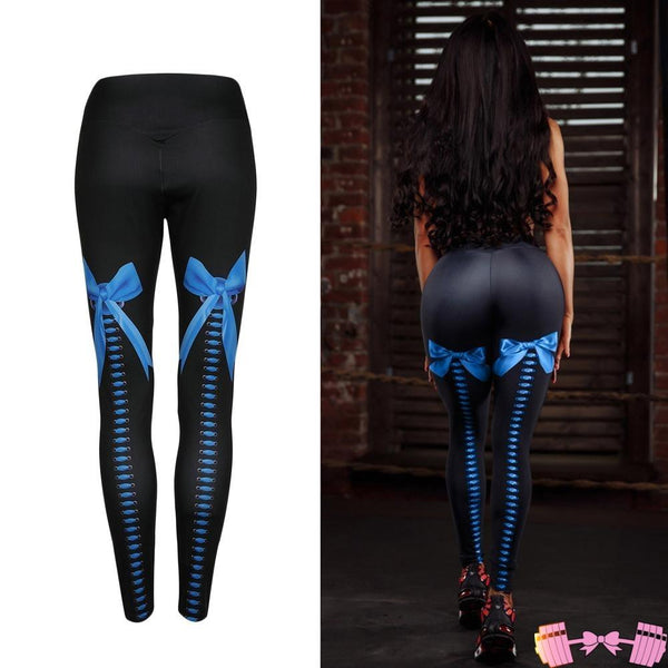 Girly Girl Lace Up Leggings apparel- FitForABelle.com