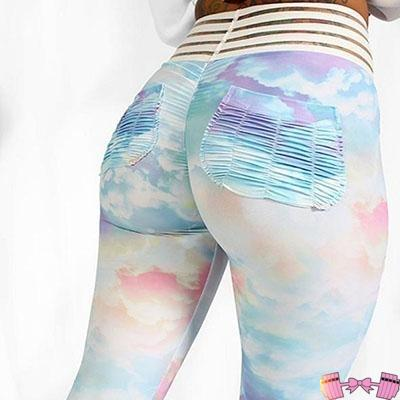 Rainbow Ombre Fitness Fashion- Women's Workout Leggings activewear- FitForABelle.com