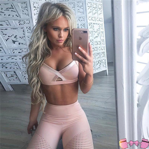 Yoga Set Woman Sportswear Fitness Suit activewear- FitForABelle.com