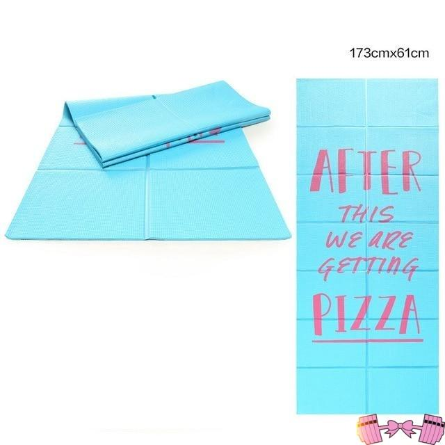 After This We're Getting Pizza Yoga Mat Accessories- FitForABelle.com
