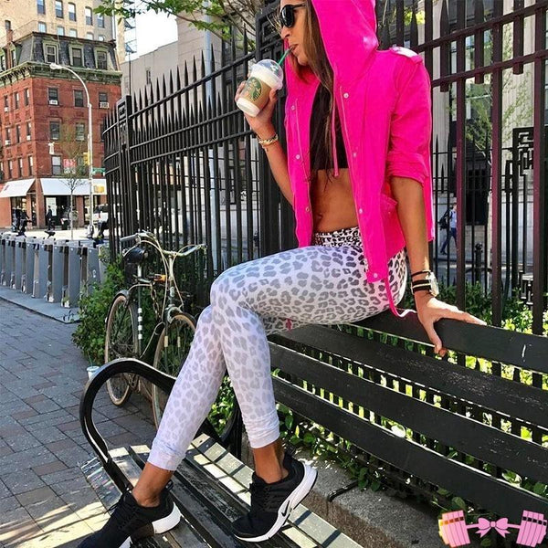 Snow Leopard Yoga Bottoms Leggings Sports Outfit