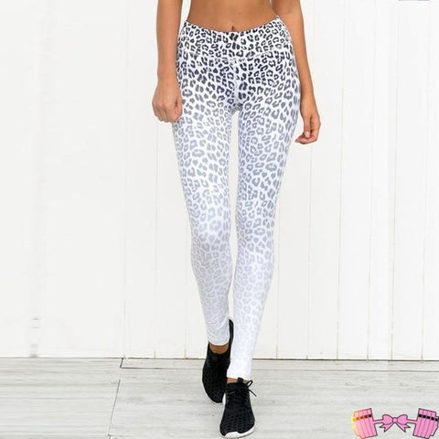 Snow Leopard Yoga Bottoms Leggings Sports Outfit activewear- FitForABelle.com