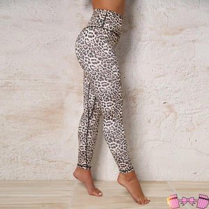 Leopard Print Yoga Pants | Workout Leggings Athleisure- FitForABelle.com
