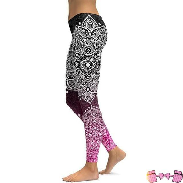 Paisley Pattern Fitness Yoga Pants For Women Activewear Bottoms- FitForABelle.com