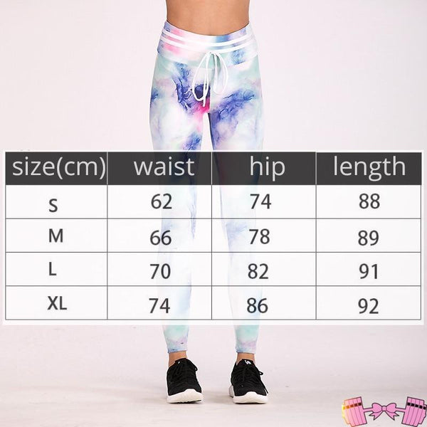 Women's Ombre Water Colored Leggings Workout leggings High Waist - Fit For A Belle