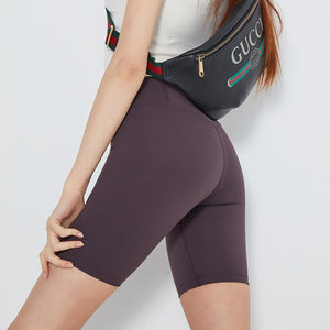 Women's 8'' High Waist Tummy Control Workout Yoga Shorts Black Compression Athletic Bike Running Shorts Slim Stretch Gym Tights - FitForABelle.com