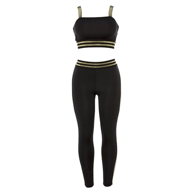Women's Yoga Suits Sport Clothing Sports Wear For Female Gym Fitness Sets Workout Tracksuits Sports Overalls Sport Suit activewear- FitForABelle.com