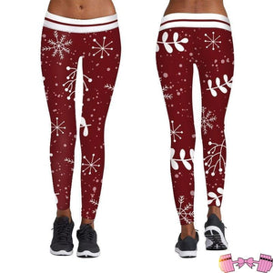 Christmas Leggings activewear- FitForABelle.com