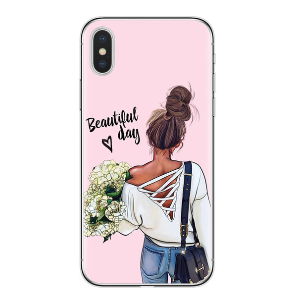 VOGUE Girl Soft TPU Phone Cover Case For iPhone