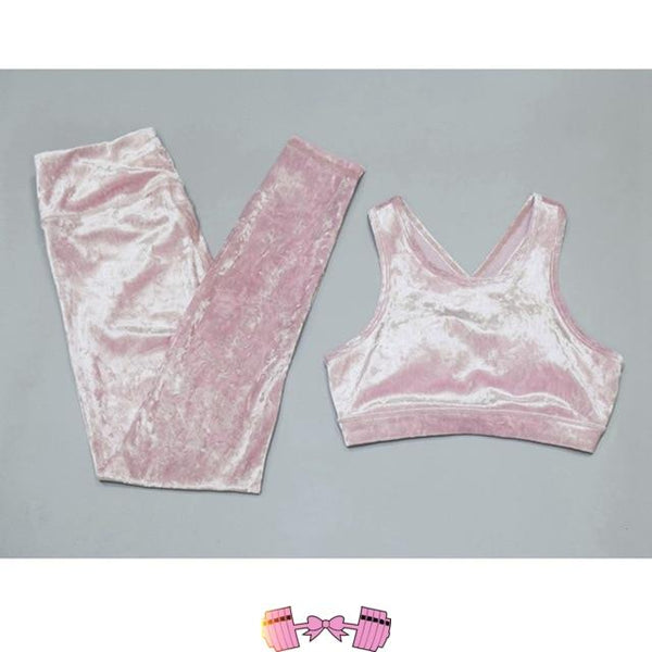 Pink Leggings Outfit Athletic Wear Workout Pants activewear- FitForABelle.com