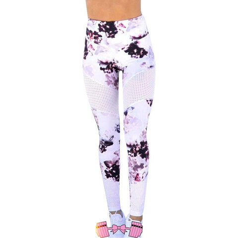 Mesh Patchwork Leggings Sport Women Fitness Yoga Pants