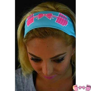 FFAB Cotton Candy Bow and Barbell Headband - Fit For A Belle