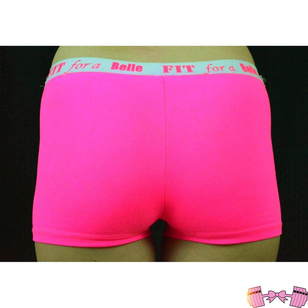 FFAB Neon Pink Spandex Shorts - Fit For A Belle