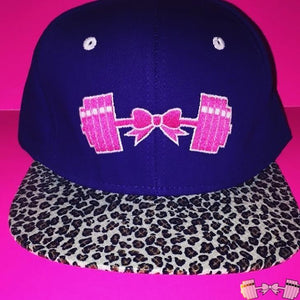 FFAB Purple Cheetah Snapback Accessories- FitForABelle.com
