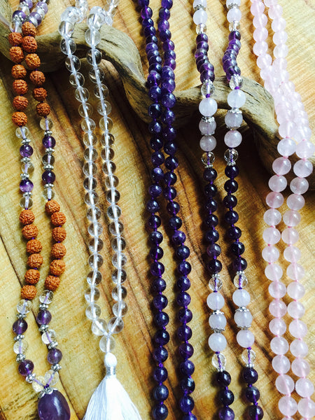 Sacred and Healing Gemstones - Blossoms of Earths Kingdom - Mala Beads