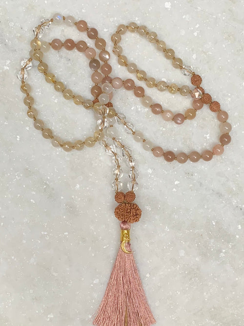 Creation & Protection Mala for Lightworkers | with 10 mukhi VISHNU Rudraksha