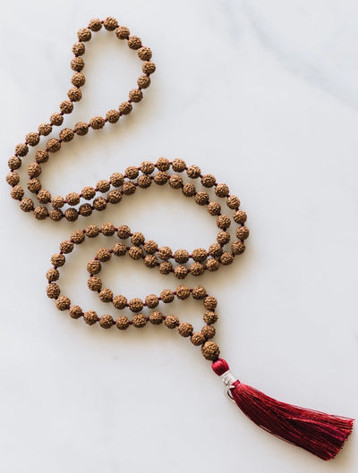 Ardhanarishvara Union | Traditional Rudraksha Meditation Mala