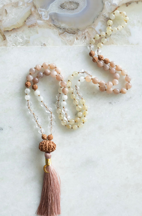 LIGHTWORKERS Mala | VISHNU Rudraksha for Success & Protection