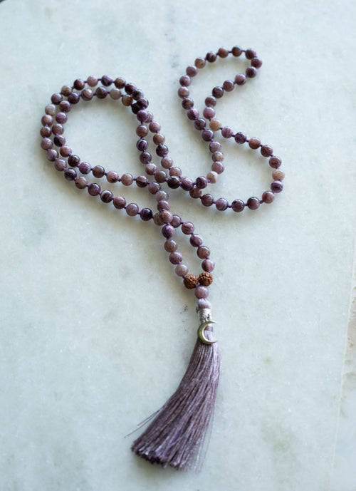 AGE OF AQUARIUS Charoite Mala