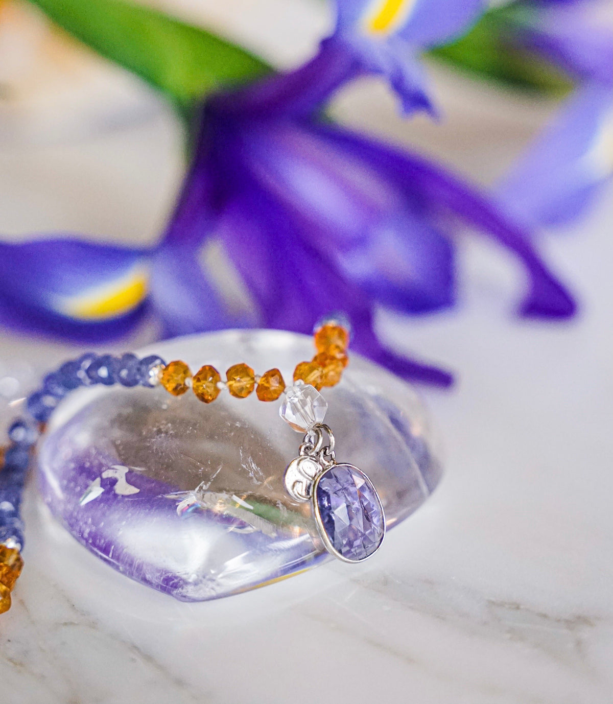 Bhaskaraya SHIVOHAM Mala | King of the Sun with Tanzanite